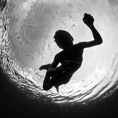 Boy From Banda (Hengki Koentjoro) Tags: ocean sea water silhouette fun freedom underwater play dive free surface dreamcatcher