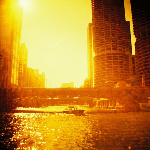 フリー写真素材, 建築・建造物, 都市・街, 高層ビル, 橋, 川・河川, 夕日・夕焼け・日没, アメリカ合衆国,