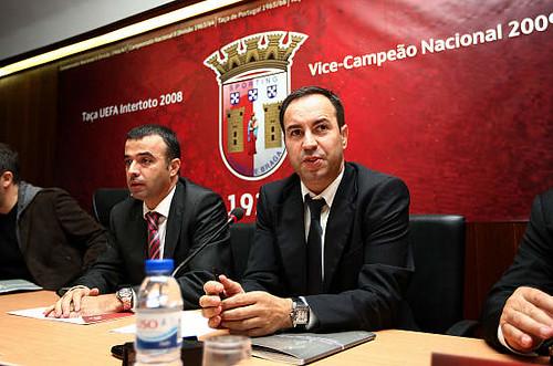 António Salvador, Presidente do SC Braga ©abola