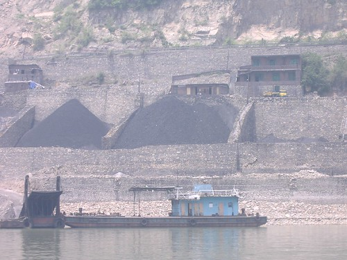Coal Hoppers and Barge