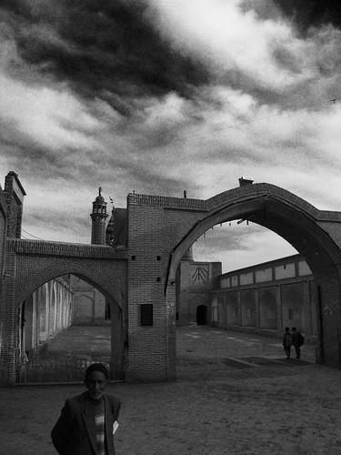 GPS -- iran iranian bw black white school isfahan persian esfahan old persia sky