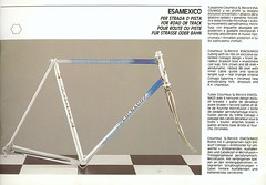 Colnago EsaMexico (unaesthetic) Tags: classic bike vintage frames handmade steel 1988 bikes style bicycles 80s frame catalog bella colnago 1980s tubing ernesto campy catalogs campagnolo lightweight lugs bicis lightweights