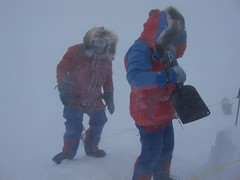 Richard & Iain in blizzard (Weber Arctic Expeditions) Tags: expedition polar weber pressureridge northpole arcticocean resupply airdrop packice richardweber adrianhayes polartraining polarkit tessum polarequipment iainmorpeth