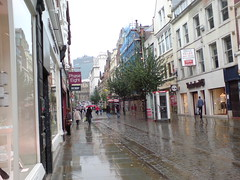 King Street Manchester (Dradny) Tags: rain manchester kingstreet citycentre timberland sketchformanchestersummer