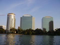 Vistas desde el Lago Eola, Downtown Orlando, F...