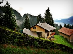 Cute Swiss cabin (bekahpaige) Tags: mountain landscape switzerland cabin europe suisse swiss luzern mountainside charming lucerne soe mtpilatus 10faves mywinners platinumheartaward