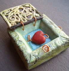 Shrine-Bent But Not Broken (gabriel studios) Tags: door gate shrine heart jewelry ornament clay etsy pendant keepsake polymer focal locket gabrielstudios michelegabrielstudios
