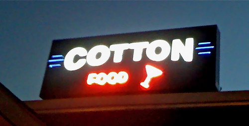Cotton sign.