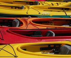 Kayaks at Elk Lake - by Bill Gracey