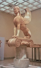 Naxian Sphinx (greekgeek) Tags: sphinx greek delphi apollo naxos greekart archaicperiod classicalart marblestatuegreece