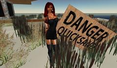 Dilysign (dilynraevandyke) Tags: mud sink sl secondlife quicksand
