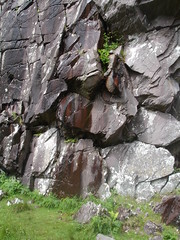 Dripping water over rocks. Gap of Dunloe Lake of Killarney, Ireland (Melia Estkling