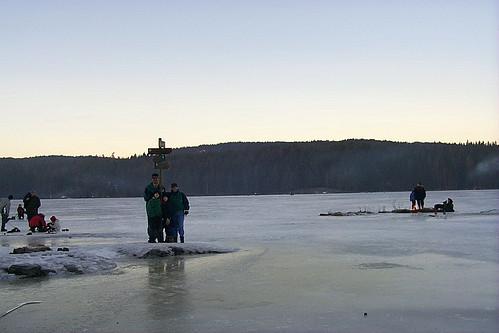 Skimarker on a Lake