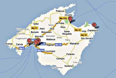 oficinas alquiler coches Eurorent Mallorca