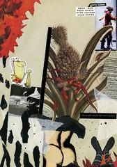 girl's room (graffafette) Tags: girl collage foglie illustrazione illusione