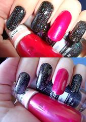 Mistureba (Princess Chul) Tags: glitter rosa preto impala esmaltes colorama passenati