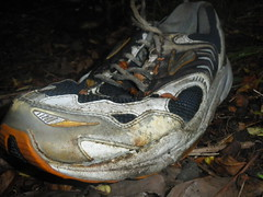 Lost Brooks Running Shoe (asicsneakers) Tags: old rotting dead lost shoe garbage shoes sneakers trainers used rubbish sneaker lone beast brooks