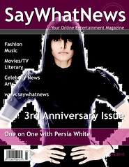 Persia White SayWhatNews Magazine Cover