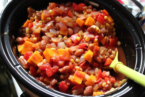101023. butternut squash and pinto bean chili.