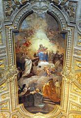 Italy-0050 - Ceiling of Santa Maria del Carmelo in Traspontina