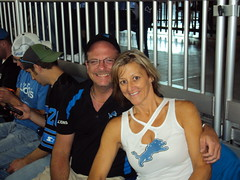 Joe & Brenda at Lions Game