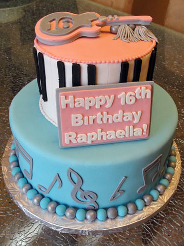 Musical Sweet 16 Cake 2