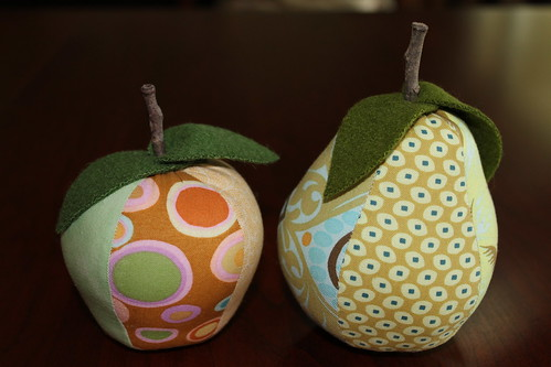 Fruit Pin Cushion Pair