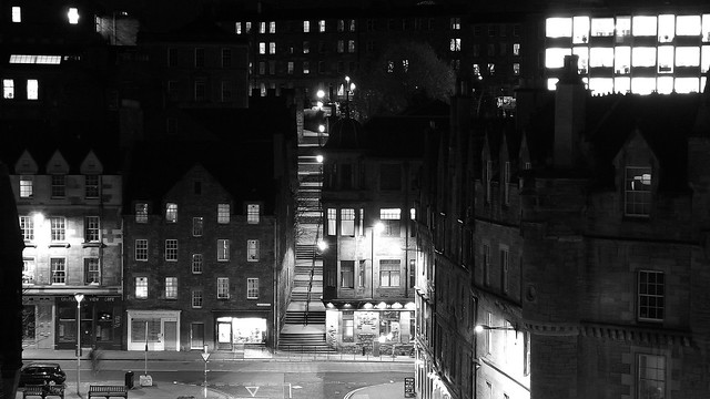 Grassmarket at night