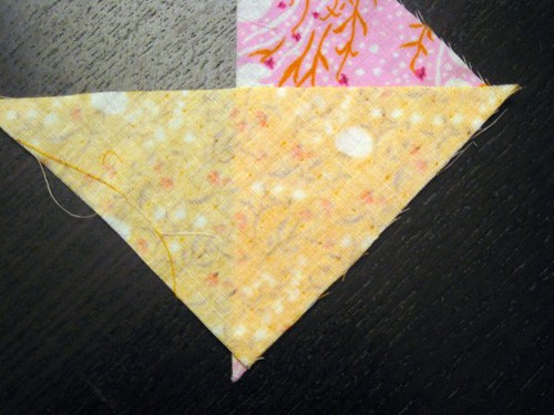 Piecing Half Square Triangles
