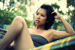 Self Portrait 365 project   Day 179 (Growtograph   by Joy Butler) Tags: selfportrait relax asian afternoon designer working chinese mum lazy hammock 365 colourful swinging laying selfie tubetop workaholic businesswoman legsup layback joybutler herveybayphotographer