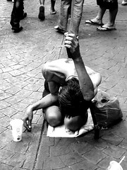 Begging for compassion (stratman2 (2 many pix!)) Tags: blackandwhite canon chinatown homeless streetphotography beggar malaysia kualalumpur fleamarket panhandler petalingstreet g11