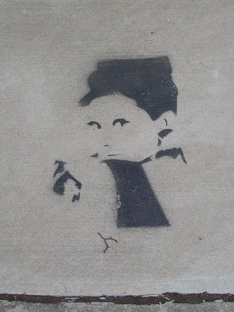 hepburn stencil & twig by Zombie37