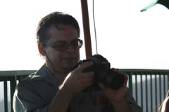 Cesar and his Nikon (FrogMiller) Tags: sunset orange fun drinking patio alcohol lawyers happyhour orangehill attorneys orangehillrestaurant ocbarristers