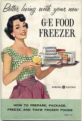 Better Living! (Cowtools) Tags: vintage ephemera illo booklet manual freezer ge appliance frozenfood generalelectric purpleapron