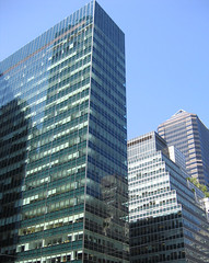 on Park Avenue (MariRed) Tags: nyc blue sky architecture modern midtown greenglass