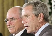 George W Bush and John_Howard (oghab_e_iran  ) Tags: usa newyork love freedom virginia dc washington bush war peace unitedstates mr iran god islam iraq great sydney mother terrorist australia tehran  luray bless      haward          amrica  khomeini   zeyneb sepah                semocracy