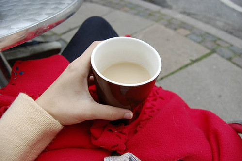Copenhague coffees : in chilly weather you get a blanket to wrap around