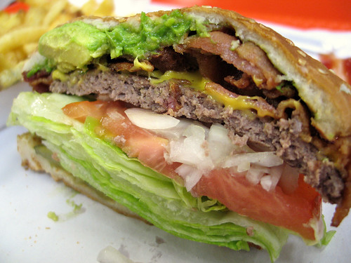 Avocado Bacon Cheeseburger