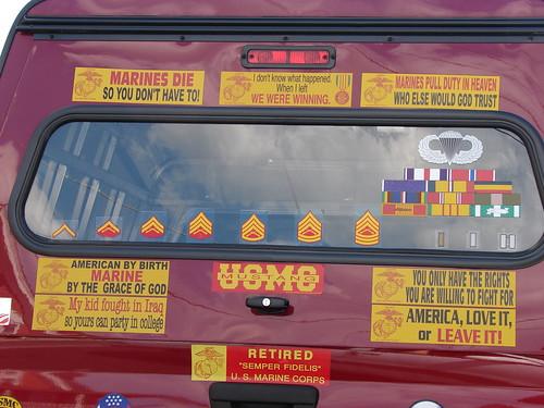 Marine bumper stickers