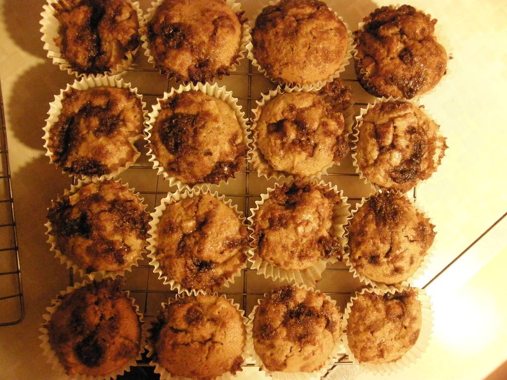 whole wheat apple muffins.