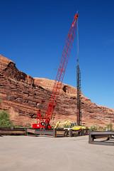 20070921_4320...Pile driver at Colorado River (listorama) Tags: bridge river utah construction crane machinery coloradoriver 1200 moab lightroom piledriver lionspark ut2007sep