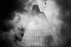 The Dark Tower (Geoffrey Gilson) Tags: tower metal clouds canon germany dark eos cityscape tour steel sombre 7d geoffrey gotham nuages dsseldorf allemagne duesseldorf gilson acier neverstopexploring thyssenkrupp canoneos7d geoffreygilson wwwgeoffreygilsonnet faderfilters