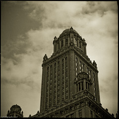 Chicago-135 (T. Scott Carlisle) Tags: chicago 6x6 film up skyline architecture clouds buildings square 50mm fuji hasselblad neopan tsc acros100 r09 tphotographiccom tscottcarlisle