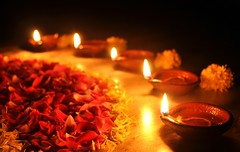 Diya (Bhaskar Dutta) Tags: flowers light wallpaper favorite india flower lamp night petals scenery natural five contest petal diwali incredible deepawali rangoli diya deewali dipawali thecch