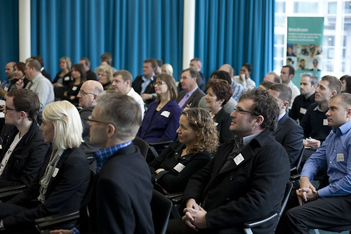 Attendees listen on at UMIC