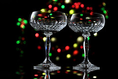 Cheers! (Theresa Thompson) Tags: christmas holiday glass festive lights glasses crystal bokeh toast champagne newyear explore flickrdiamond