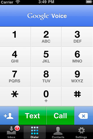 google-voice-keypad