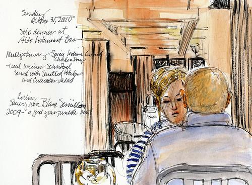 Berlin, restaurant couple