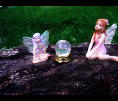 Fairy meeting (snail.skin) Tags: pink ball toy outside toys wings crystal magic plastic fairy fairies purplehair