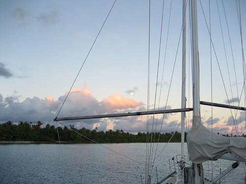 Another gorgeous anchorage, Fakarava